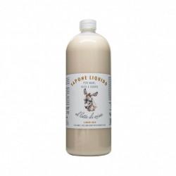 Sapun lichid hidratant pentru maini, fata si corp cu lapte de magarita, La Dispensa, 1000 ml