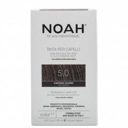 Vopsea de par naturala, Saten deschis 5.0, Noah, 140 ml