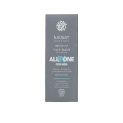 Lotiune de curatare faciala BIO hidratanta cu extract de cafea pentru barbati, All In One, Naobay, 100 ml