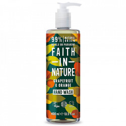Sapun lichid natural cu grapefruit si portocala, Faith in Nature, 400 ml