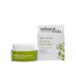 Crema de zi matifianta cu extract de neem organic - ten gras, Purifying - Urban Veda, 50 ml