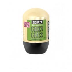 Deodorant natural pe baza de piatra de alaun pentru barbati GREEN GRASS (lemon grass), Biobaza, 50 ml