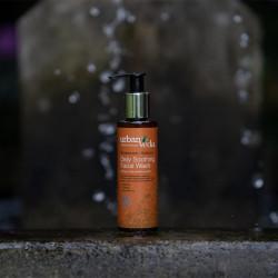 Gel de curatare pentru fata cu extract de lemn de santal organic - ten sensibil, Soothing - Urban Veda, 150 ml