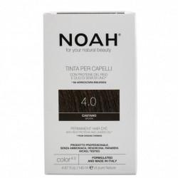 Vopsea de par naturala, Saten, 4.0, Noah, 140 ml
