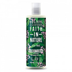 Balsam natural purifiant cu Tea Tree pentru par gras cu matreata, Faith in Nature, 400 ml