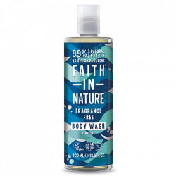 Gel de dus natural, fara parfum, hipoalergenic, pentru piele sensibila, Faith in Nature, 400 ml