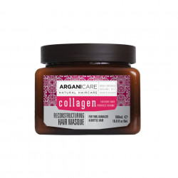 Masca regeneranta cu colagen pentru par subtire, deteriorat si fragil, Arganicare, 500 ml