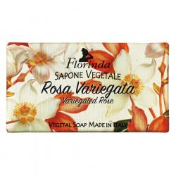 Sapun vegetal cu trandafir pestrit Florinda, 100 g La Dispensa