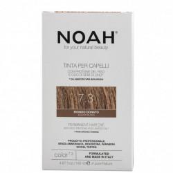 Vopsea de par naturala, Blond auriu, 7.3,Noah, 140 ml