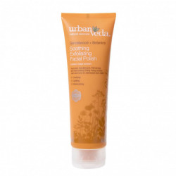 Exfoliant hidratant pentru curatare faciala cu extract de lemn de santal organic - ten sensibil, Soothing - Urban Veda, 125 ml