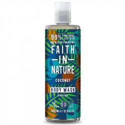 Gel de dus natural, hidratant, cu cocos, Faith in Nature, 400 ml