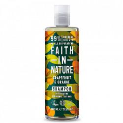 Sampon natural revigorant cu grapefruit si portocale pentru par normal sau gras, Faith in Nature, 400 ml