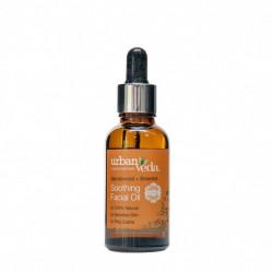 Ulei facial cu extract de lemn de santal organic - ten sensibil, Soothing - Urban Veda, 30 ml