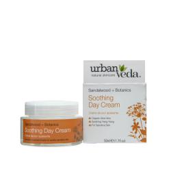 Crema de zi hidratanta cu extract de lemn de santal organic - ten sensibil, Soothing - Urban Veda, 50 ml