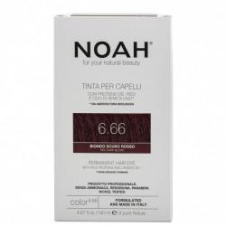Vopsea de par naturala, Blond roscat inchis, 6.66, Noah, 140 ml