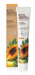 Pasta de dinti organica pentru albire cu extract de papaya, Ecodenta, 75 ml