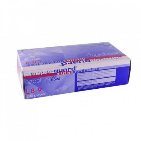 Set 200 bucati Manusi Medicale Nitril Semperguard Sapphire Nepudrate Marimea L