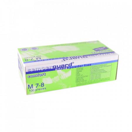 Set 100 bucati Manusi Medicale Nitril Semperguard Comfort Nepudrate Marimea M