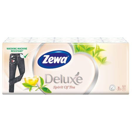 Set Servetele nazale in 3 straturi, albe, Zewa Spirit of Tea 10 buc