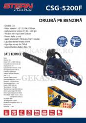 """Drujba pe benzina Stern Austria CSG5200F 52cc, 3.1 cp, lama 40cm(16"""")"""