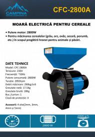 MOARĂ ELECTRICĂ PENTRU CEREALE CFC-2800A