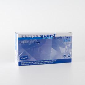 Set 100 bucati Manusi Medicale Nitril Semperguard Sapphire Nepudrate Marimea S