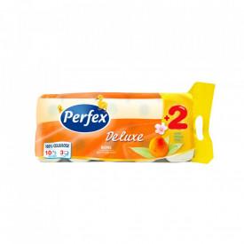 Pachet hartie igienica Perfex Deluxe Piersica 8+2 buc