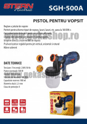 Pistol pentru vopsit, SGH500A, 500W