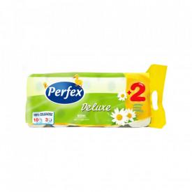 Pachet hartie igienica Perfex Deluxe Musetel 8+2 buc