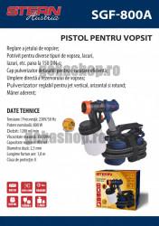 Pistol pentru vopsit SGF800A, 800W