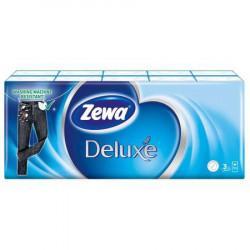 Set Servetele nazale in 3 straturi, albe, Zewa Deluxe 10 buc