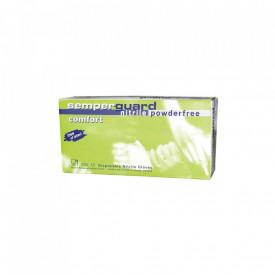 Set 100 bucati Manusi Medicale Nitril Semperguard Comfort Nepudrate Marimea S