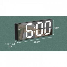Ceas Digital cu Alarmă GH0712L, Display LED, Funcție Snooze, Temperatură, Diverse Culori