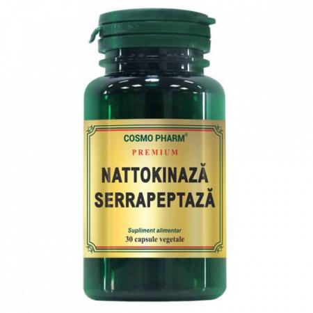 Nattokinaza Serrapeptaza 30 cps + Venotonic 30 tb Gratis