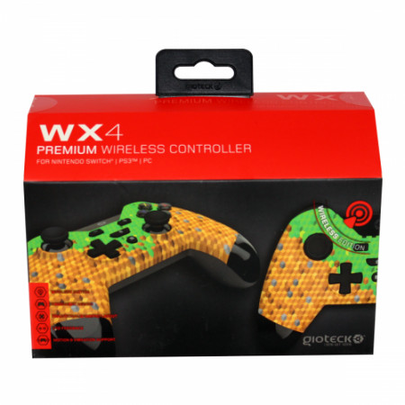 Gioteck - WX4 Premium Wireless Controller Cubes Edition for Nintendo Switch, PS3 & PC MULT Multi-Platform