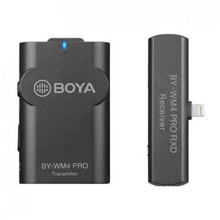 Boya BY-WM4 Pro-K3 Linie Wireless 2.4Ghz cu Microfon Lavaliera (TX+RX) pentru iOS