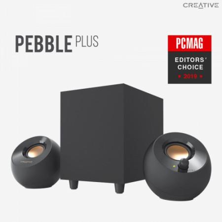 CREATIVE PEBBLE PLUS 2.1 USB Speakers - black