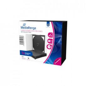 MediaRange CD Jewelcase for 2 discS, 10.4mm, bk tray, 5 pack