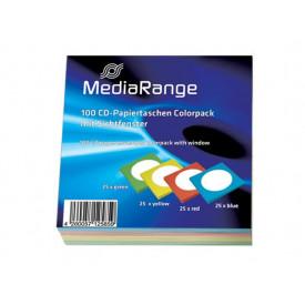 MediaRange CD Paperbag Colorpack 100pack