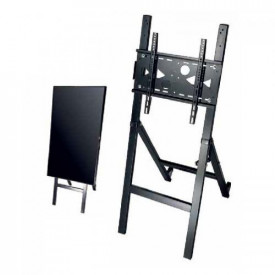 """OMB EASEL FULL STEEL MADE FOR DIGITAL SIGNAGE, SUITABLE FOR MONITOR/TV FROM 32"""" TILL 55"""" VESA MIN 100x100 - MAX 400x400, EQUIPPED WITH 2 WHEELS FOR EASY MOVEMENTS AS WELL AS A SAFETY BARS TO AVOID THE RISK OF UNCONTROLLED CLOSING"""