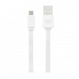 TNB FLAT MICRO USB CABLE 30CM - WHITE