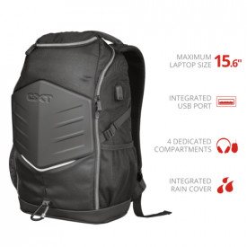 """Trust GXT 1255 Outlaw 15.6"""" Gaming Backpack - black"""