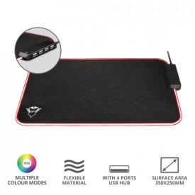 TRUST GXT 765 Glide-Flex RGB Mouse Pad with USB Hub