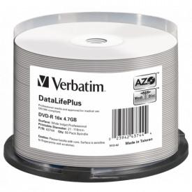 Verbatim DVD-R AZO 4.7GB 16X DL+ WIDE PRINTABLE SURFACE NON-ID