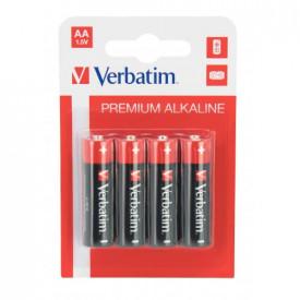 BATERIE AA ALKALINE 4buc/pachet Verbatim 49921