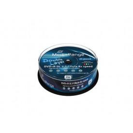 MediaRange DVD+R Double Layer Printable 8x Cake25