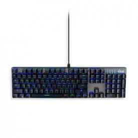 MediaRange Gaming Series Corded mechanical gaming-keyboard with 104 keys and 14 color modes, QWERTY (UK), black/silver