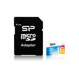 Memory Card Silicon Power Elite Micro SDHC 16GB, Clasa 1, UHS-1 + Adaptor