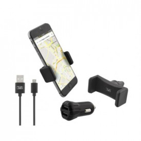 TNB PACK w/2USB car charger + air vent holder + micro USB cable
