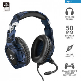 TRUST GXT 488 Forze-G PS4 Gaming Headset PlayStation official licensed product - blue